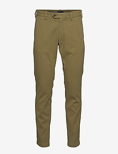 D1. SLIM STRUCTURE CHINO - chinosy - olive green