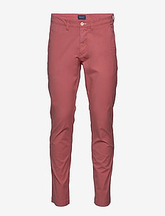 D2. SLIM SUNFADED CHINO - chinos - mineral red