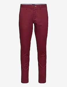 HALLDEN TECH PREP CHINOS - chinos - port red