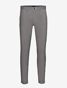 SLIM TECH PREP CHINO - chinos - steel grey