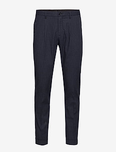 D1. MINI CHECK SLACKS - EVENING BLUE