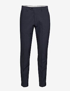 D2. SEERSUCKER PANT WITH CUFF - INSIGNIA BLUE
