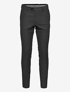 D1. SLIM FLANNEL SUIT PANT - suitbukser - charcoal melange