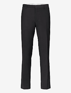 D2. SLIM TUXEDO PANT - suit trousers - black