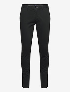D1. BRUSHED EXTRA SLIM CHINO - pantalons chino - black