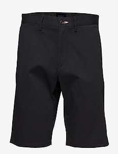 D1. RELAXED TWILL SHORTS - chinos shorts - black