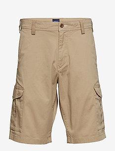 D1. RELAXED TWILL UTILITY SHORTS - casual shorts - dark khaki