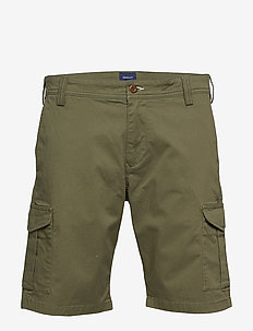D1. RELAXED TWILL UTILITY SHORTS - casual shorts - four leaf clover