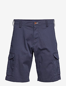 D1. RELAXED TWILL UTILITY SHORTS - casual shorts - marine
