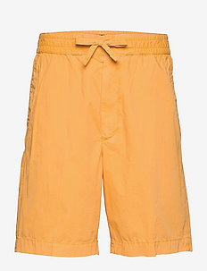 D1. OVERSIZED COTTON DS SHORTS - casual shorts - ivy gold