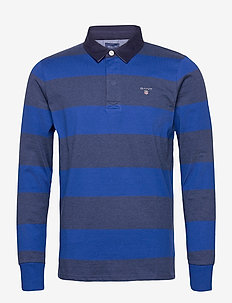 ORIGINAL BARSTRIPE HEAVY RUGGER - polos à manches longues - crisp blue
