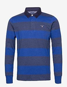 ORIGINAL BARSTRIPE HEAVY RUGGER - long-sleeved - crisp blue
