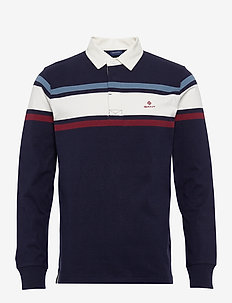 D1. STRIPED CHEST HEAVY RUGGER - EVENING BLUE