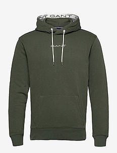 D1. 13 STRIPES SWEAT HOODIE - basic sweatshirts - thyme green