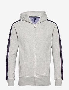 D1. GANT ARCHIVE ZIP HOODIE - sweats basiques - light grey melange
