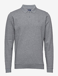 O2. HONEYCOMB COLLAR SWEAT - GREY MELANGE