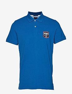 GANT Oxford Pique Polo Shirt, Nautical Blue