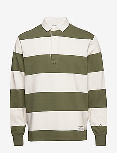 D1. BARSTRIPE HUGGER RUGGER - long-sleeved - four leaf clover