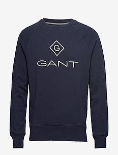 D1. GANT LOCK - UP C - NECK SWEAT - EVENING BLUE