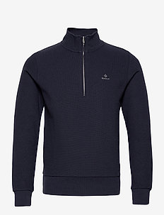 D2. STRUCTURE HALF ZIP - basic-sweatshirts - evening blue
