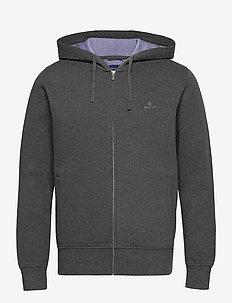 D2. SACKER RIB HOODIE - basic-sweatshirts - antracit melange