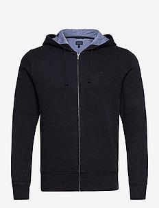 D2. SACKER RIB HOODIE - basic sweatshirts - navy