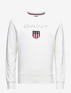 GANT SHIELD C-NECK SWEAT - sweats - eggshell
