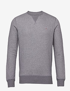 THE ORIGINAL C-NECK SWEAT - sweats basiques - dark grey melange
