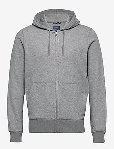 THE ORIGINAL FULL ZIP HOODIE - hoodies - dark grey melange