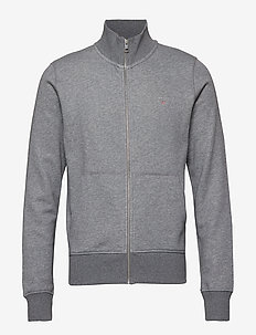 THE ORIGINAL FULL ZIP CARDIGAN - sweats - dark grey melange