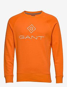LOCK UP C-NECK SWEAT - sweatshirts - arancia