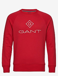 LOCK UP C-NECK SWEAT - svetarit - bright red