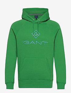 D1. COLOR LOCK UP HOODIE - hoodies - amazon green
