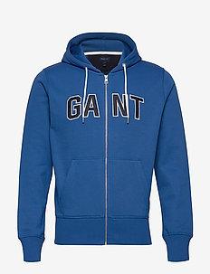 D1. GANT SWEAT ZIP HOODIE - NAUTICAL BLUE