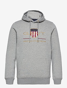 ARCHIVE SHIELD HOODIE - sweats à capuche - grey melange