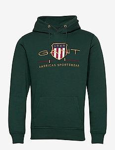 ARCHIVE SHIELD HOODIE - hoodies - tartan green