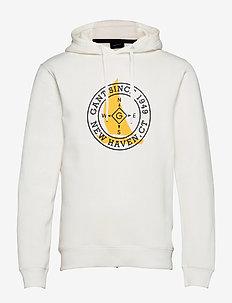 D1. NAUTICAL SWEAT HOODIE - hoodies - eggshell