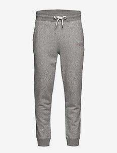 D1. GRAPHIC JERSEY PANTS - collegehousut - grey melange