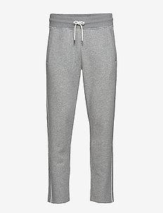 D1. GANT STRIPE SWEAT PANTS - jogginghosen - grey melange