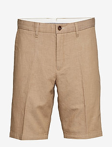 D1. THE CHAMBRAY SHORT - tailored shorts - warm khaki