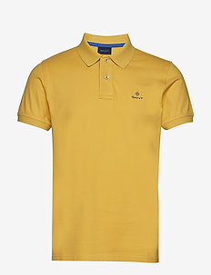 CONTRAST COLLAR PIQUE SS RUGGER - short-sleeved polos - mimosa yellow