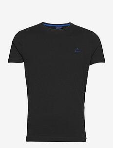 CONTRAST LOGO SS T-SHIRT - basic t-shirts - black