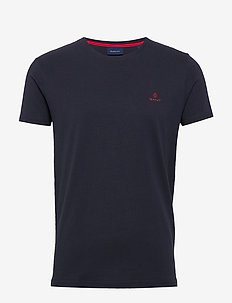CONTRAST LOGO SS T-SHIRT - EVENING BLUE