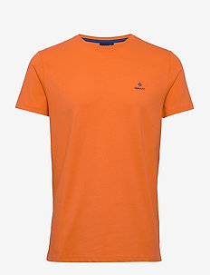 CONTRAST LOGO SS T-SHIRT - basic t-shirts - sunny orange
