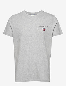 D1. MEDIUM SHIELD SS T-SHIRT - perus t-paidat - light grey melange