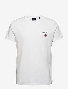 D1. MEDIUM SHIELD SS T-SHIRT - basic t-shirts - white