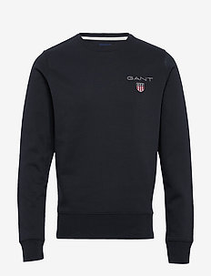 D1. MEDIUM SHIELD C-NECK SWEAT - basic sweatshirts - black
