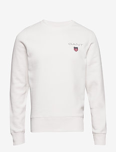 D1. MEDIUM SHIELD C-NECK SWEAT - sweats basiques - eggshell