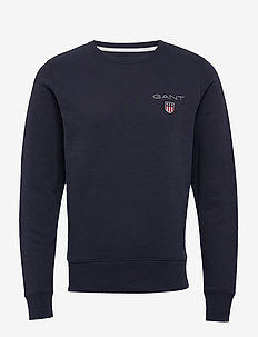 D1. MEDIUM SHIELD C-NECK SWEAT - basic sweatshirts - evening blue