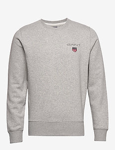 D1. MEDIUM SHIELD C-NECK SWEAT - basic sweatshirts - light grey melange